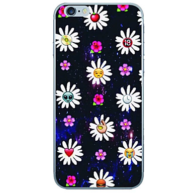 For iPhone 7 Case / iPhone 6 Case / iPhone 5 Case Ultra-thin / Pattern Case Back Cover Case Flower Soft TPU AppleiPhone 7 Plus / iPhone 7