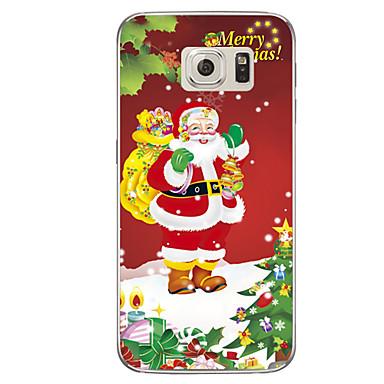 Case Kompatibilitás Samsung Galaxy S7 edge S7 Áttetsző Minta Fekete tok Karácsony Puha TPU mert S7 edge plus S7 edge S7 S6 edge plus S6