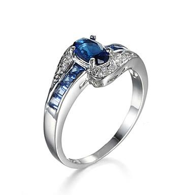 Női Gyűrű Kocka cirkónia luxus ékszer jelmez ékszerek Cirkonium Kocka cirkónia Ékszerek Kompatibilitás Napi Hétköznapi