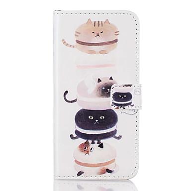 케이스 제품 Samsung Galaxy S7 edge S7 카드 홀더 플립 패턴 풀 바디 고양이 하드 인조 가죽 용 S7 edge S7 S6 edge S6 S5