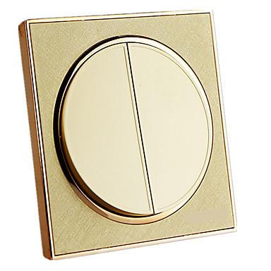 A pezsgő arany kapcsoló aljzat panel