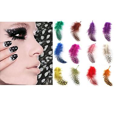 12PCS Nail Art matrica Diecut manikűr stencil smink Kozmetika Nail Art Design