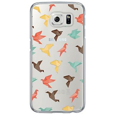 Kılıf Na Samsung Galaxy S7 edge / S7 Ultra cienkie / Półprzezroczyste Czarne etui Dachówka Miękkie TPU na S7 edge / S7 / S6 edge plus