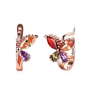 Dames Ring oorbellen Kubieke Zirkonia Modieus Zirkonia Legering Bloemvorm Sieraden Voor Bruiloft Feest Dagelijks Causaal