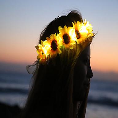 해바라기 꽃 crownfloral headbandlight 최대 꽃 crownheadband 첼라 할로윈에 불을 주도
