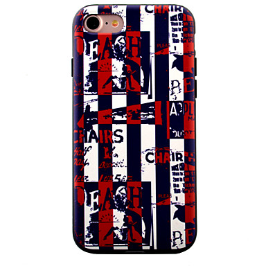 용 아이폰7케이스 / 아이폰7플러스 케이스 / 아이폰6케이스 패턴 케이스 뒷면 커버 케이스 단어 / 문구 소프트 TPU Apple 아이폰 7 플러스 / 아이폰 (7) / iPhone 6s Plus/6 Plus / iPhone 6s/6