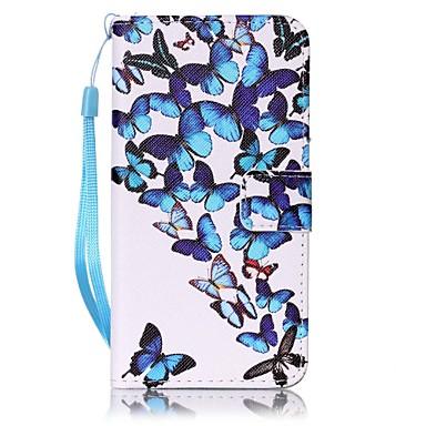케이스 제품 Samsung Galaxy A5(2016) A3(2016) 지갑 카드 홀더 풀 바디 버터플라이 하드 인조 가죽 용 A5(2016) A3(2016)