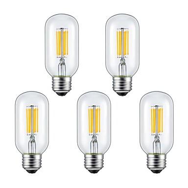 5pcs 6W 2300/6000lm E26 / E27 LED필라멘트 전구 6 LED 비즈 COB 따뜻한 화이트 차가운 화이트 85-265V