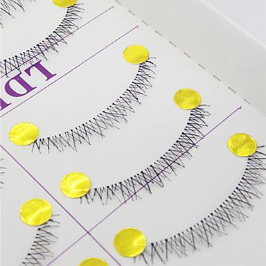 속눈썹 속눈썹 아래 속눈썹 눈 교차 스타일 수공 섬유 Transparent Band 0.10mm 6mm