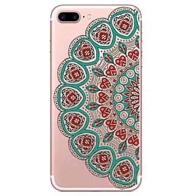 용 아이폰7케이스 / 아이폰6케이스 / 아이폰5케이스 투명 / 엠보싱 텍스쳐 / 패턴 케이스 뒷면 커버 케이스 레이스 디자인 소프트 TPU Apple아이폰 7 플러스 / 아이폰 (7) / iPhone 6s Plus/6 Plus / iPhone