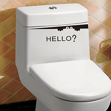 Csendélet Divat Mondások & Idézetek Falimatrica Repülőgép matricák WC-matricák, PVC lakberendezési fali matrica Toilet Glass / fürdőszoba