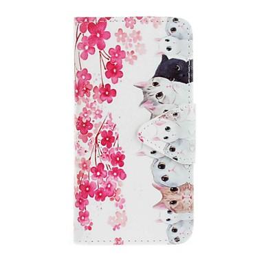 케이스 제품 Samsung Galaxy J5 (2016) J3 (2016) 지갑 카드 홀더 스탠드 패턴 풀 바디 고양이 하드 인조 가죽 용 J5 (2016) J5 J3 (2016) J3