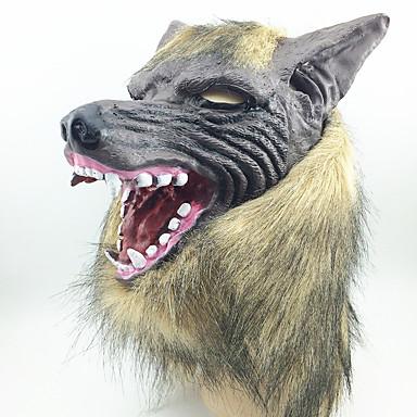 Maski na Halloween Maki na bal maskowy Zabawki Głowa wilka Lateks Gumowy Motyw horroru 1 Sztuk Halloween Bal maskowy Prezent