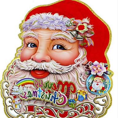 1pár karácsonyi díszek sztereó kétoldalas matricák 40 * 32cm minta véletlenszerű