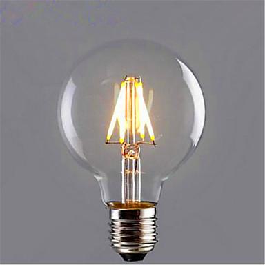1pc 6 W 500 lm E26 / E27 Ampoules à Filament LED G95 6 Perles LED COB Décorative Blanc Chaud / Jaune 220-240 V / 1 pièce / RoHs