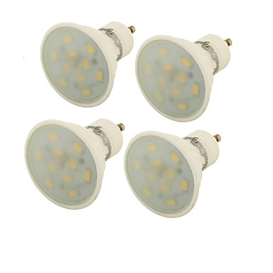 GU10 LED 스팟 조명 MR16 10 LED가 SMD 5730 장식 따뜻한 화이트 400lm 3000K AC 85-265V
