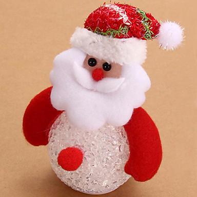 사랑스러운 눈사람 산타 클로스는 아이들을위한 야간 조명 책상 인형 크리스마스 트리 펜던트 장식 테이블 발광 램프 야간 조명을 주도 (양식 임의)