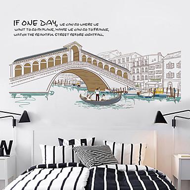 건축 / 정물화 / 레져 벽 스티커 플레인 월스티커 / 거울 벽스티커 데코레이티브 월 스티커,PVC 자료 이동가능 홈 장식 벽 데칼