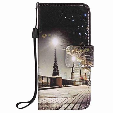 városi tájkép festés pu telefon tok alma itouch 5 6 ipod tok / borító