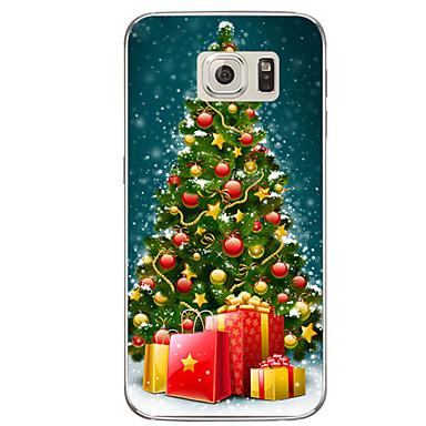 Kılıf Na Samsung Galaxy S7 edge S7 Półprzezroczyste Wzór Czarne etui Święta Bożego Narodzenia Miękkie TPU na S7 edge plus S7 edge S7 S6
