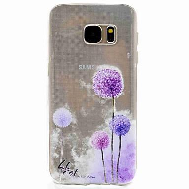 Case Kompatibilitás Samsung Galaxy S8 S7 edge Minta Hátlap Pitypang Puha TPU mert S8 S7 edge S7 S5 Mini S5