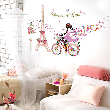 Decorative Wall Stickers - Words & Quotes Wall Stickers People / Still Life / Romance Living Room / Bedroom / Shops / Cafes / Removable