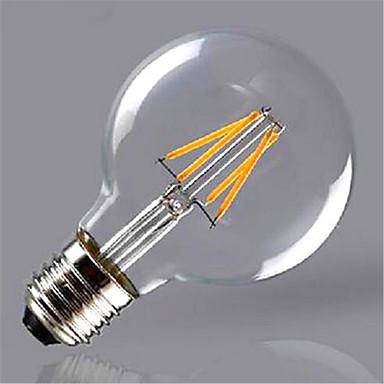 1db 300-350 lm E26/E27 Izzószálas LED lámpák G80 4 led COB Dekoratív Meleg fehér Sárga AC 220-240V