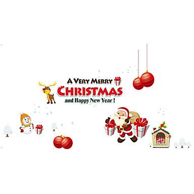 Állatok / Karácsony / Emberek Falimatrica Repülőgép matricák Dekoratív falmatricák,PVC Anyag Mosható / Eltávolítható / Újra-pozícionálható