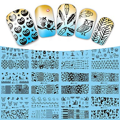 12 designs ,12 different images Nail Art matrica Víz Transfer Matricák smink Kozmetika Nail Art Design