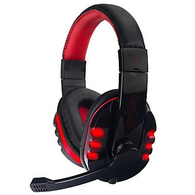 SY733MV Kulak Üzerinden Saç Bandı Kablolu Kulaklıklar Dengeli Armatür Plastik Oyunlar Kulaklık Ses Kontrollü Mikrofon ile Gürültü