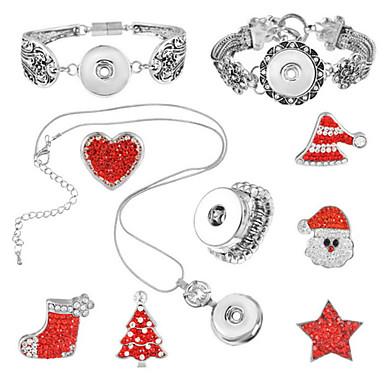 Damskie Zestawy biżuterii Miłość Chrismas Heart Shape 1 Naszyjnik 1 Bransoletka Rings 1 Pakiet Na Halloween Codzienny Prezenty ślubne