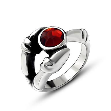 Ανδρικά Γυναικεία Βέρες Δαχτυλίδι Πολυτέλεια Μοντέρνα Τιτάνιο Ατσάλι Προσομειωμένο διαμάντι Κοσμήματα Γάμου Πάρτι Causal
