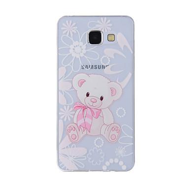 Недорогие Чехлы и кейсы для Galaxy A3-Кейс для Назначение SSamsung Galaxy A8(2016) / A5(2016) / A3(2016) С узором Кейс на заднюю панель Животное Мягкий ТПУ