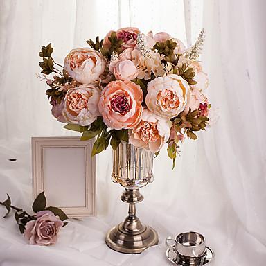 1 Gałąź Jedwab Styropian Piwonie Bukiety na stół Sztuczne Kwiaty