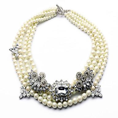 Damskie Naszyjniki z wisiorkami Oświadczenie Naszyjniki Perła Perłowy Wiszący Wyrazista biżuteria Modny luksusowa biżuteria