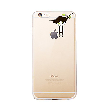إلى شفاف / نموذج غطاء غطاء خلفي غطاء قطة ناعم TPU إلى Appleفون 7 زائد / فون 7 / iPhone 6s Plus/6 Plus / iPhone 6s/6 / iPhone SE/5s/5 /