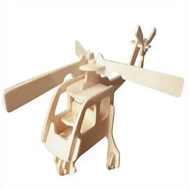 puzzle Ahşap Yapbozlar Yapı taşları DIY Oyuncak Küre / Helikopter 1 Ahşap Kristal Model ve İnşaa Oyuncakları