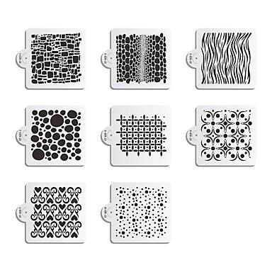 8 Plastik Dekorasyon Aracı Pasta Yüksek kalite