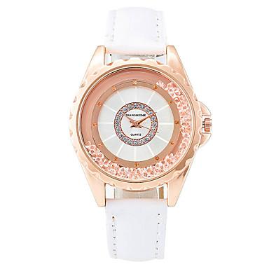Xu™ Kadın's Moda Saat Bilezik Saat Yüzer Kristal Saatler Quartz PU Bant Eski Tip Günlük Siyah Beyaz Kırmızı Kahverengi Mor