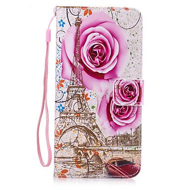 إلى محفظة / حامل البطاقات / مع حامل / قلب غطاء غطاء خلفي غطاء زهور قاسي جلد اصطناعي إلى Appleفون 7 زائد / فون 7 / iPhone 6s Plus/6 Plus /