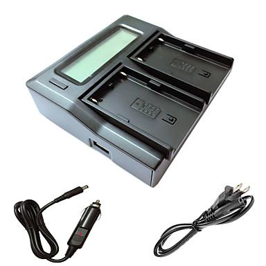 ismartdigi bpu90 LCD podwójny ładowarka z kablem ładowania samochodów dla Sony batterys EX1R ex160 ex260 ex280 FS5 FS7 kamer