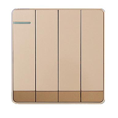 86 μεγάλες πλάκα C1 σαμπάνια χρυσό σειρά τεσσάρων ανοικτό διακόπτη διπλού τοιχώματος ελέγχου