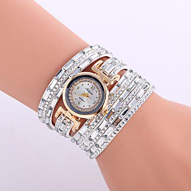 Kadın's Quartz Bilek Saati / Bilezik Saat Deri Bant İhtişam / Işıltılı / Vintage / Günlük / Bohem / Zarif / Moda / Halhal Siyah / Gümüş /