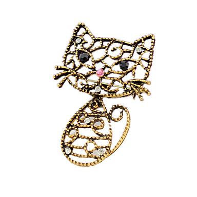 Γυναικεία Καρφίτσες Chrismas χαριτωμένο στυλ Animal Shape Γάτα Κοσμήματα Για Γάμου Πάρτι Καθημερινά Causal