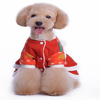 Koira Neulepaidat Koiran vaatteet Joulu Tukeva Punainen