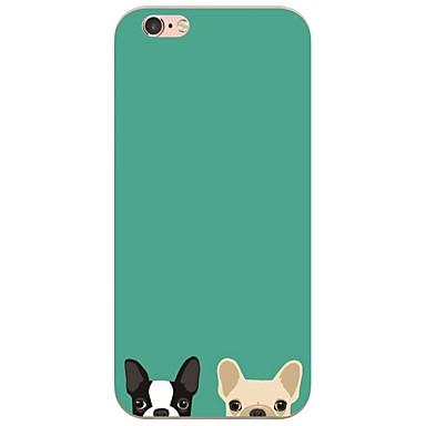 Käyttötarkoitus iPhone X iPhone 8 iPhone 7 iPhone 6 iPhone 5 kotelo kotelot kuoret Ultraohut Kuvio Takakuori Etui Koira Pehmeä TPU varten