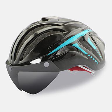 ieftine Căști-FTIIER Adulți Cască de Bicicletă cu Ochelari Casca Aero 18 Găuri de Ventilaţie CE Rezistent la Impact Modelată integral Lumina Greutate EPS PC Sport Bicicletă montană Ciclism stradal Ciclism