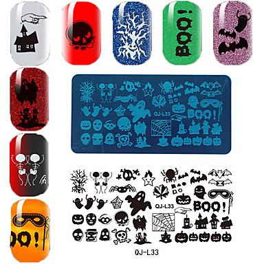 Szablon prostokątna płyta drukarska manicure Halloween serii