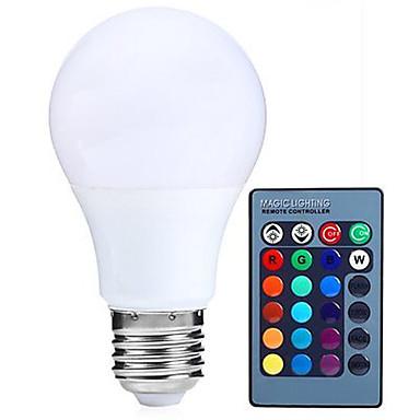 HRY 5W 500 lm E26/E27 Żarówki LED kulki A60(A19) 15 Diody lED SMD 5050 Przysłonięcia Dekoracyjna Zdalnie sterowana RGB AC85-265 AC 85-265V