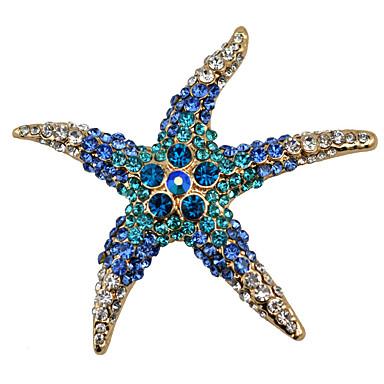 Недорогие Другие украшения-Жен. Броши морская звезда Дамы Мода Брошь Бижутерия Белый Красный Синий Назначение Для вечеринок Повседневные